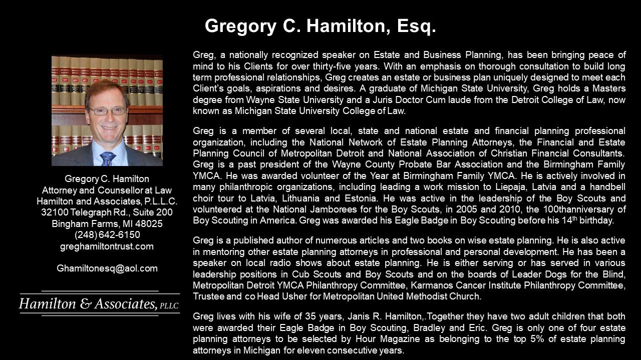 APEG Gregory Hamilton