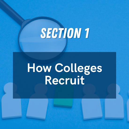 Section 1 - How Colleges Recruit
