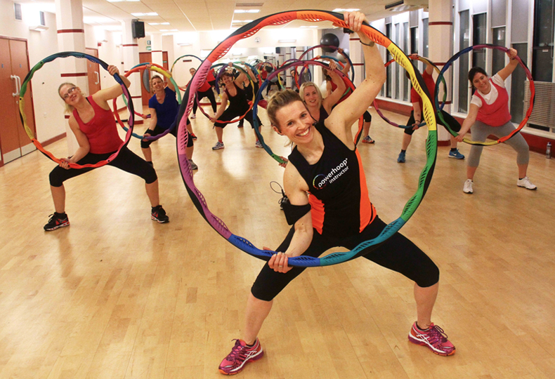 Instructor Teaching a Bodyhoop Class