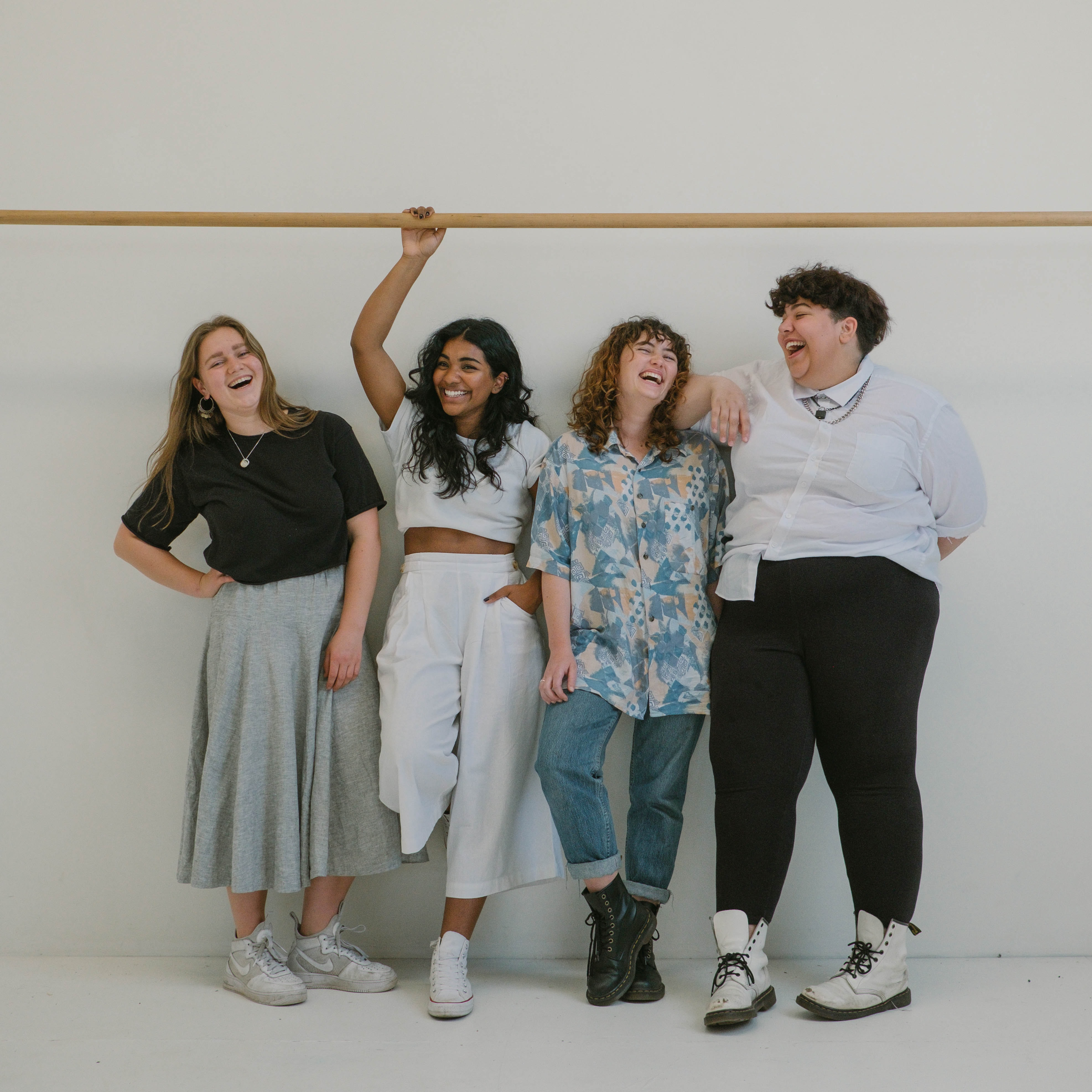 Different sized women standing
