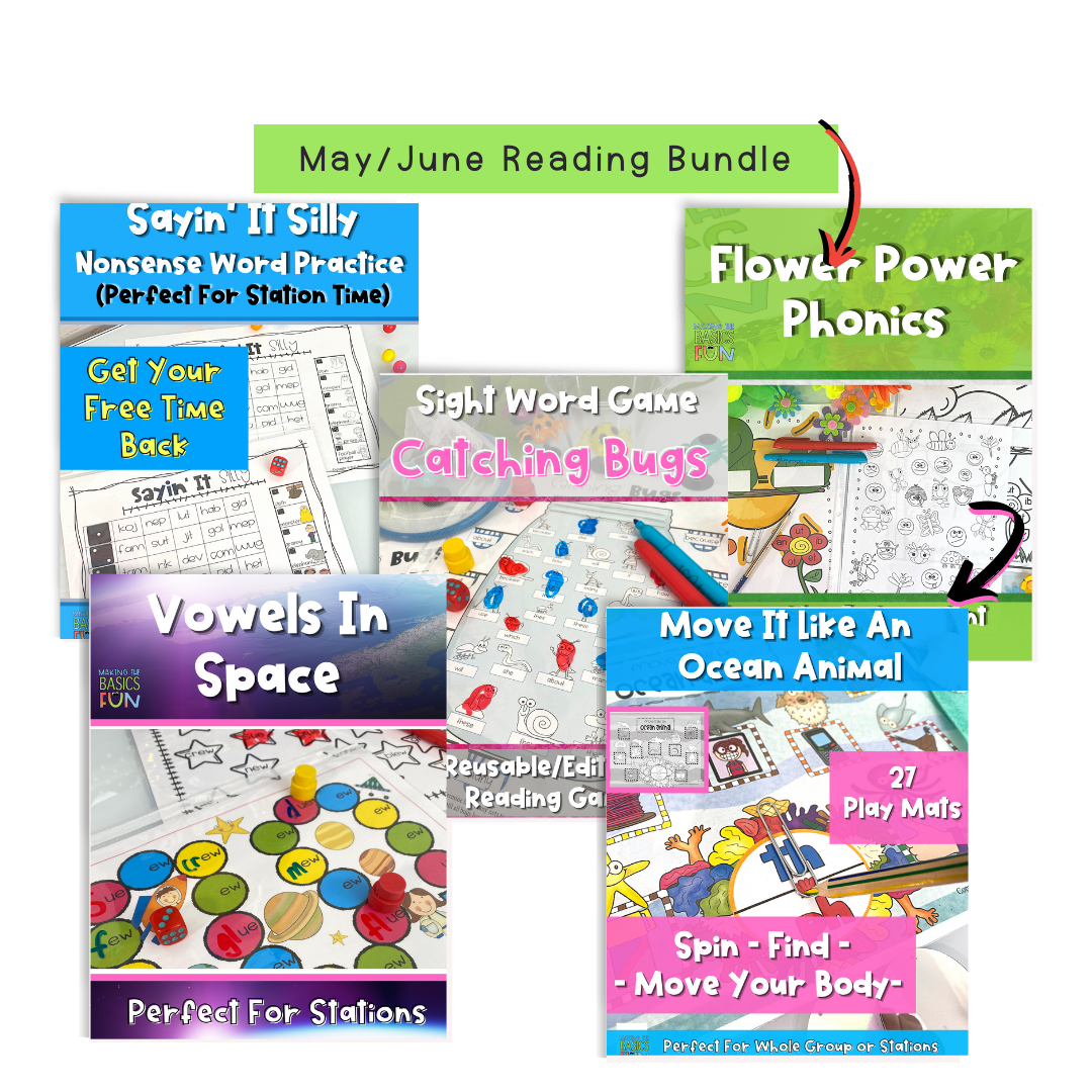 5 Early Finisher reading games for May and June