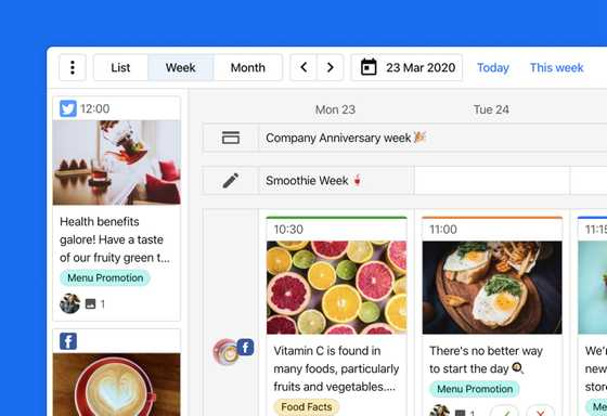 ContentCal social media calendar