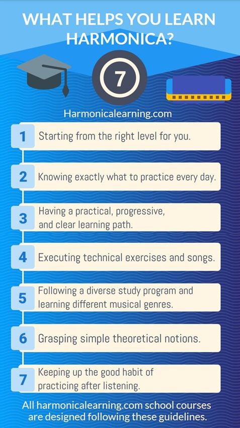 The 7 element that make you learn harmonica