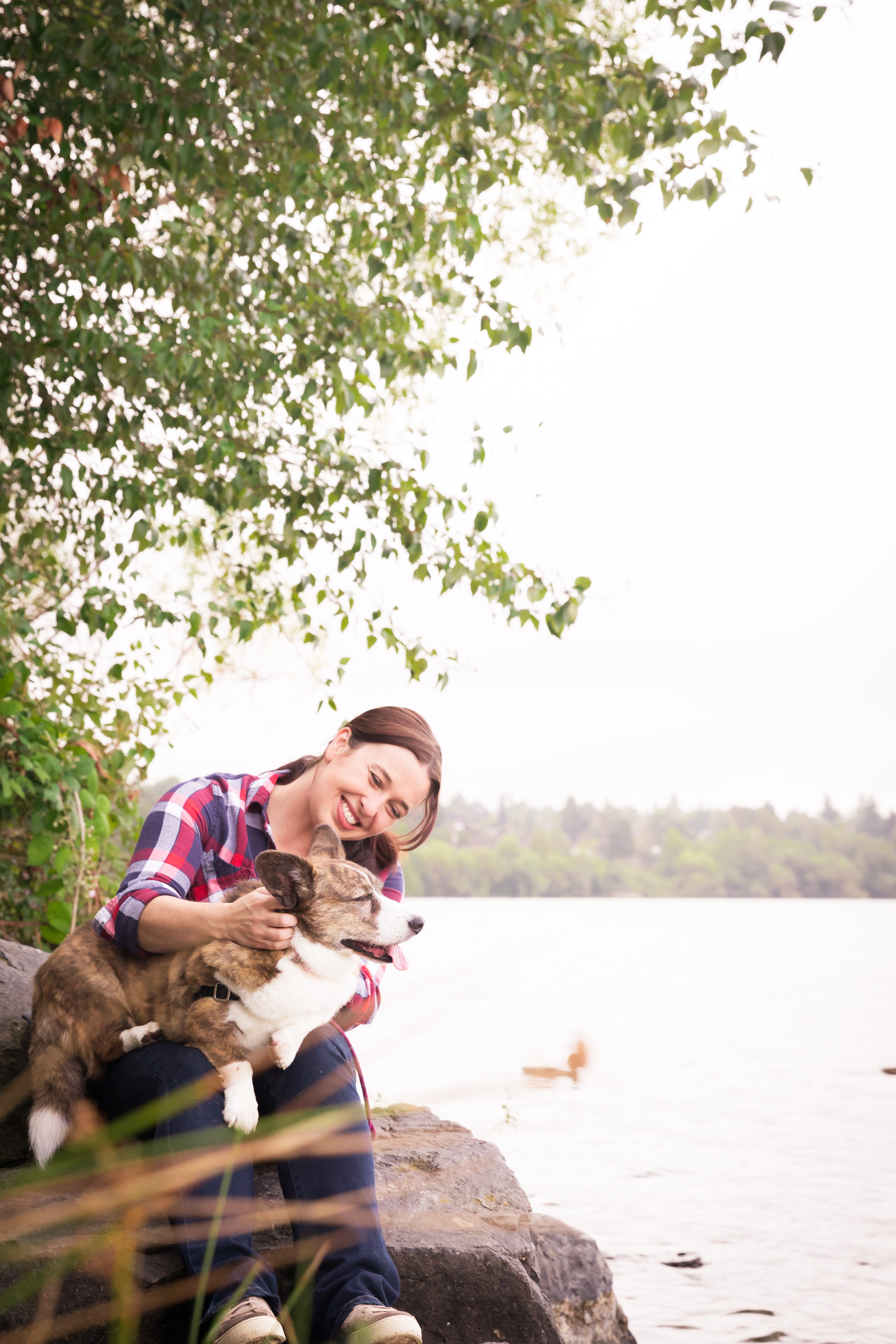 Cathy with her dog Sookie