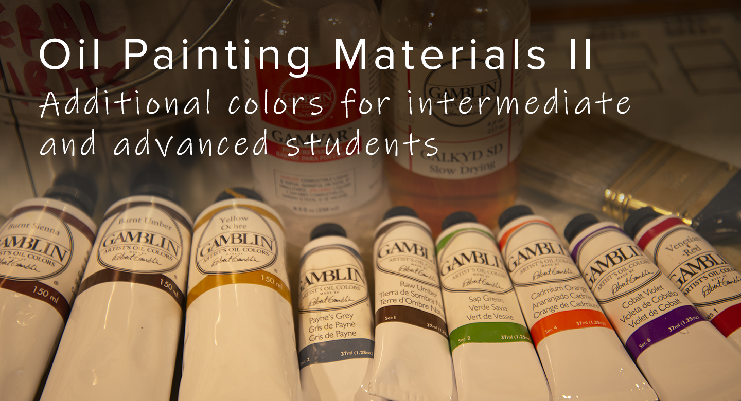 Additional materials needed for RL Caldwell Studio
