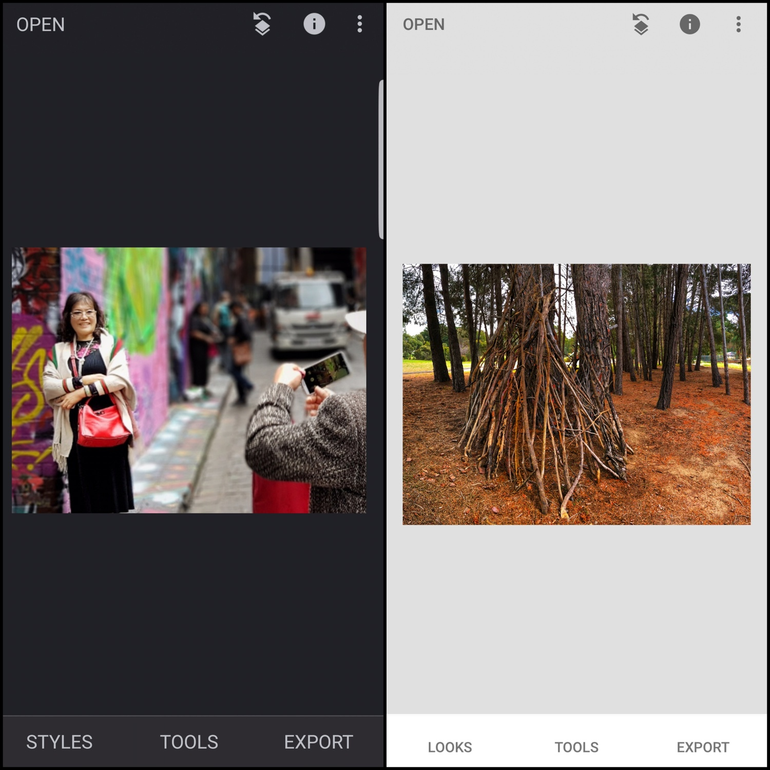 1.5 Snapseed settings, Android and iPhone differences and other apps