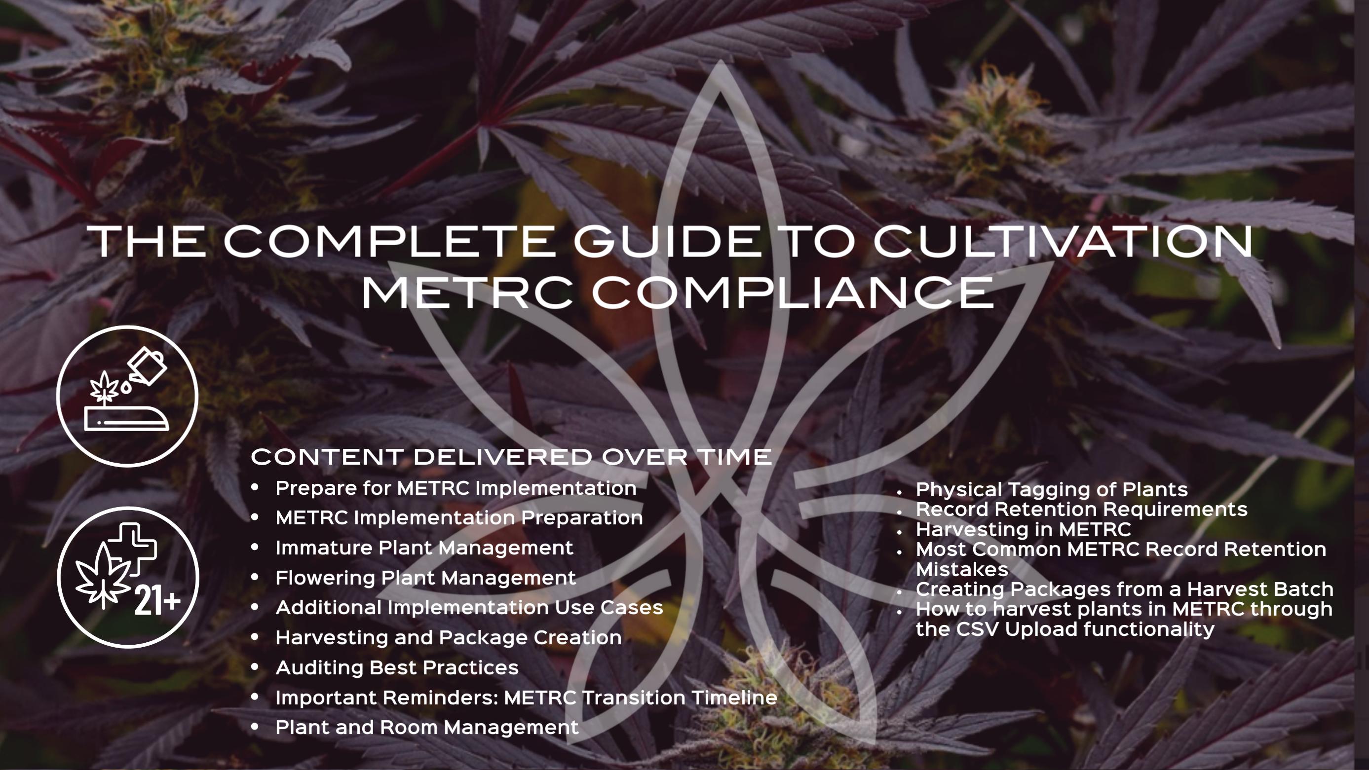 THE COMPLETE GUIDE TO CULTIVATION METRC COMPLIANCE RMCC METRC tickets, METRC training, Oklahoma cannabis, Maine Cannabis, Oregon Cannabis, coronavirus, cannabis certification