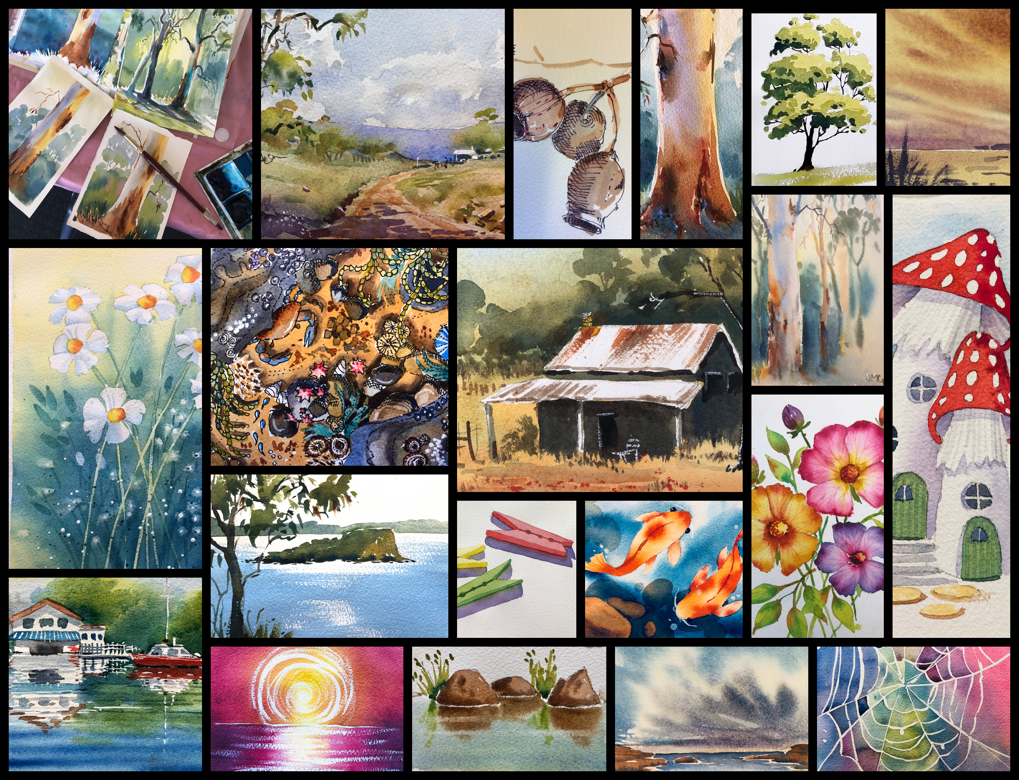 Watercolour Classes Workshops Online for beginners with Jenny Gilchrist