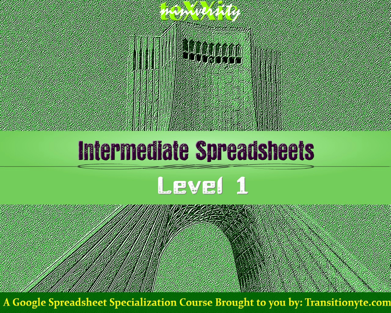 TeXXic Miniversity course - Intermediate Spreadsheet Level 1