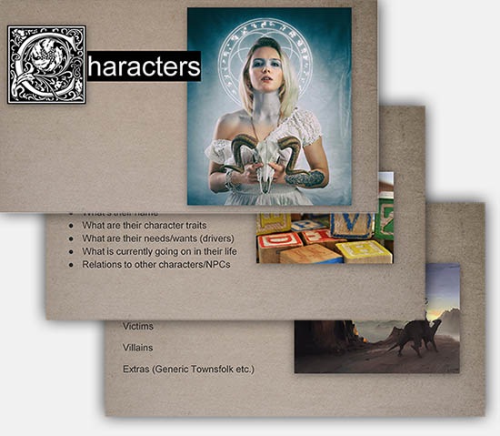 This course contains 10 methods to write adventure modules, tools to build interesting nonplayer characters (NPCs) and plenty of material to enhance an existing campaign