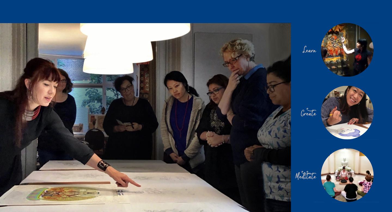 Carmen Mensink teaching Tibetan Buddhist Art