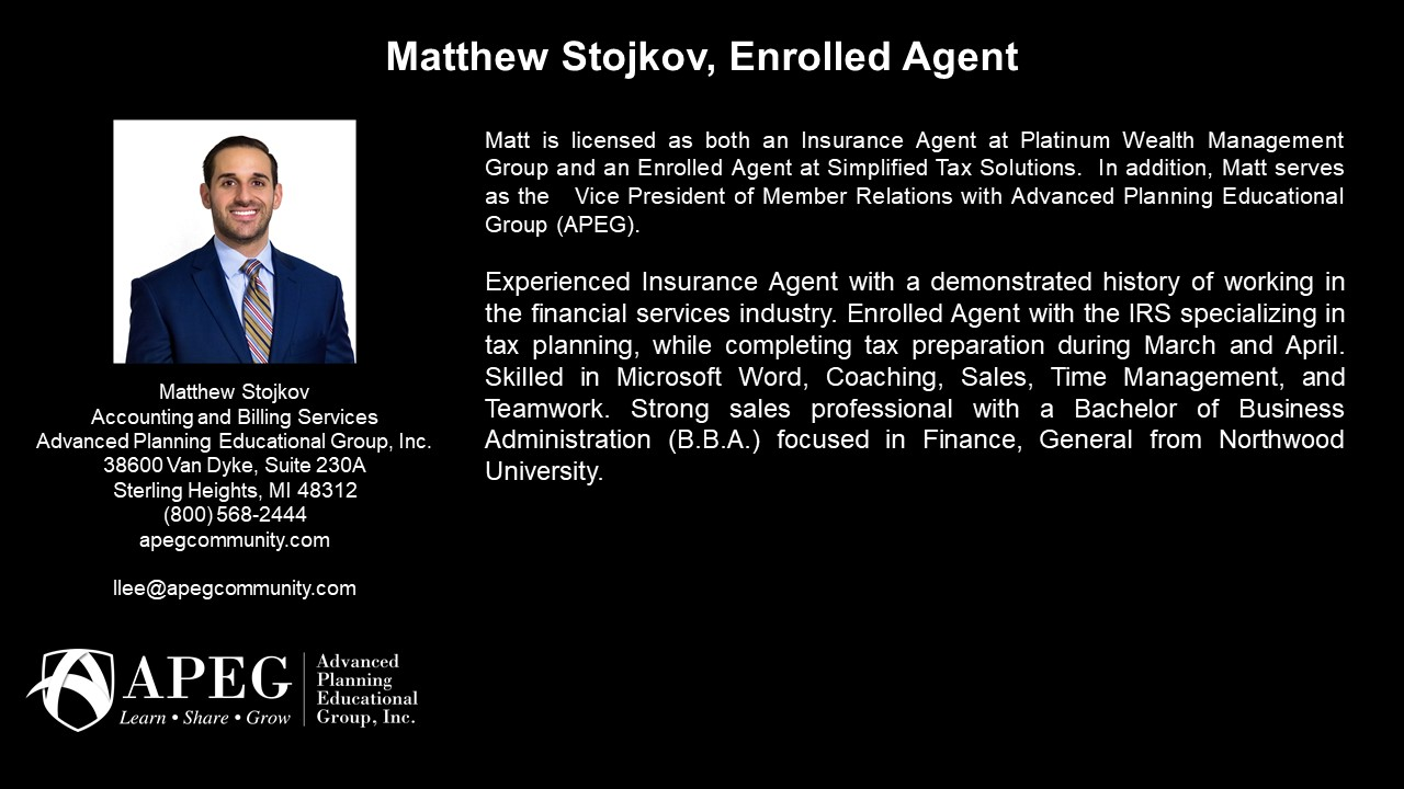 APEG Matthew Stojkov