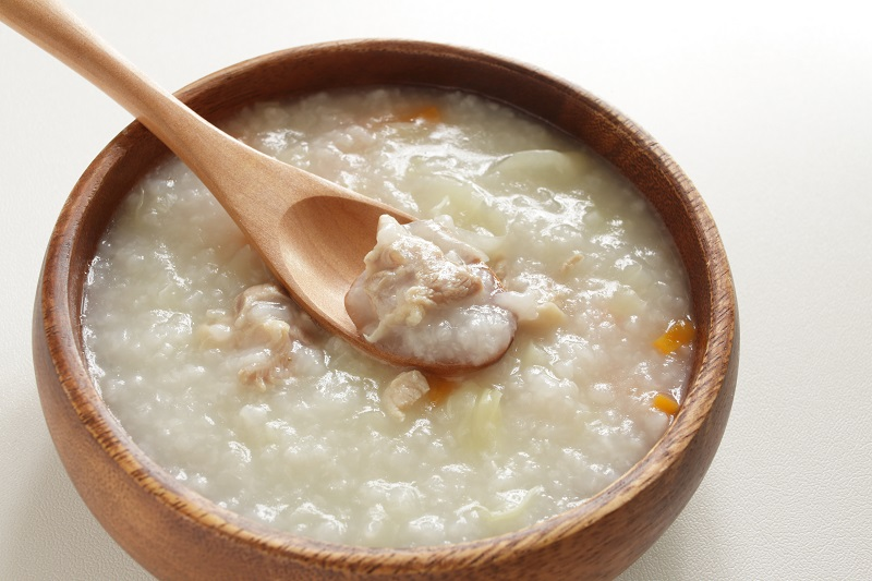 Healing sweet potato rice congee