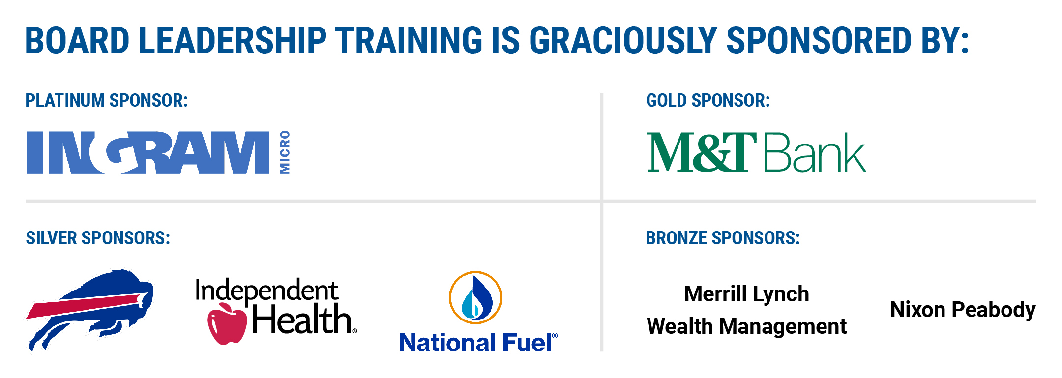Board Leadership Training Sponsors