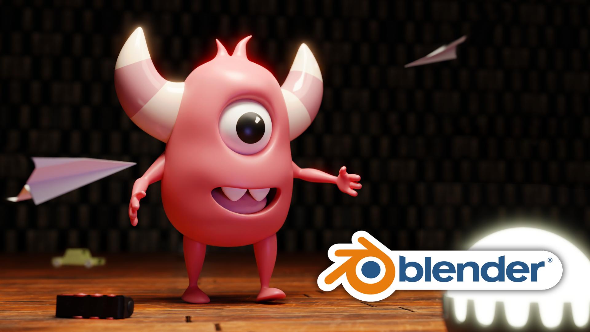 3D Monster Pixar Style Blender Academy Course