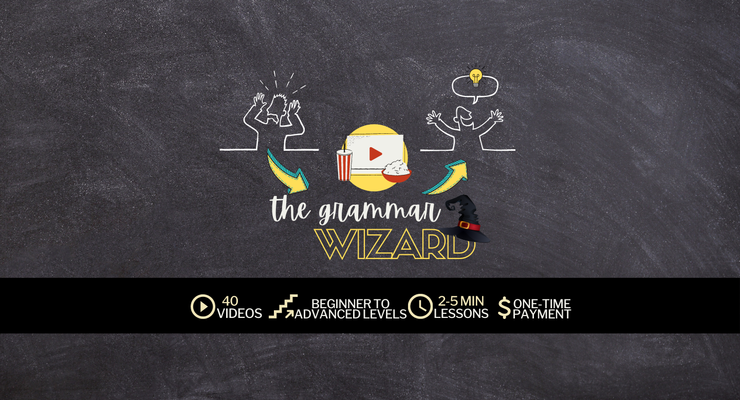 Grammar Wizard is a complete audiovisual guide to master the english grammar