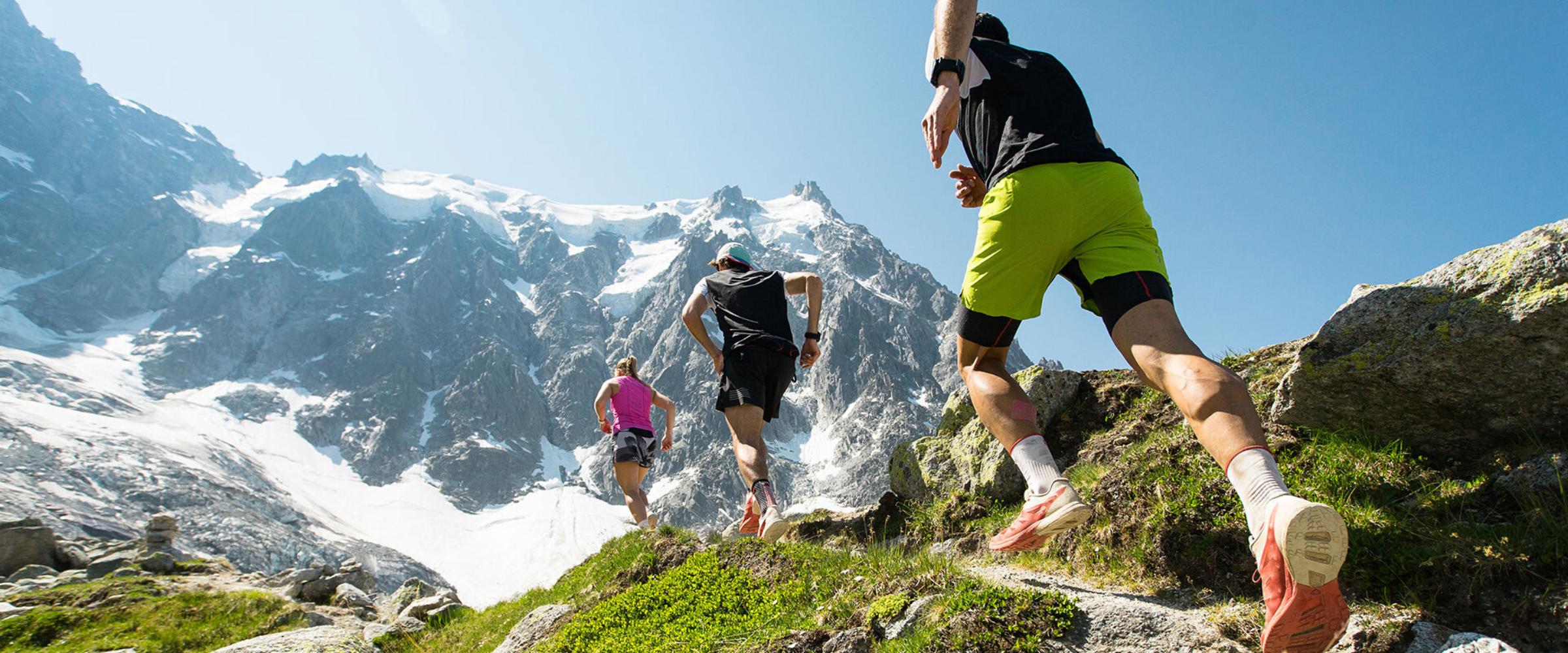 Athletes run at high altitude