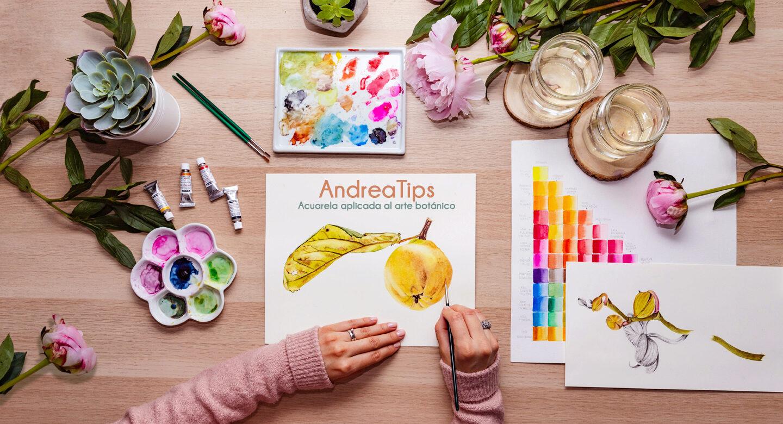 Andreatips cursos y workshops de acuarela aplicada al arte botánico