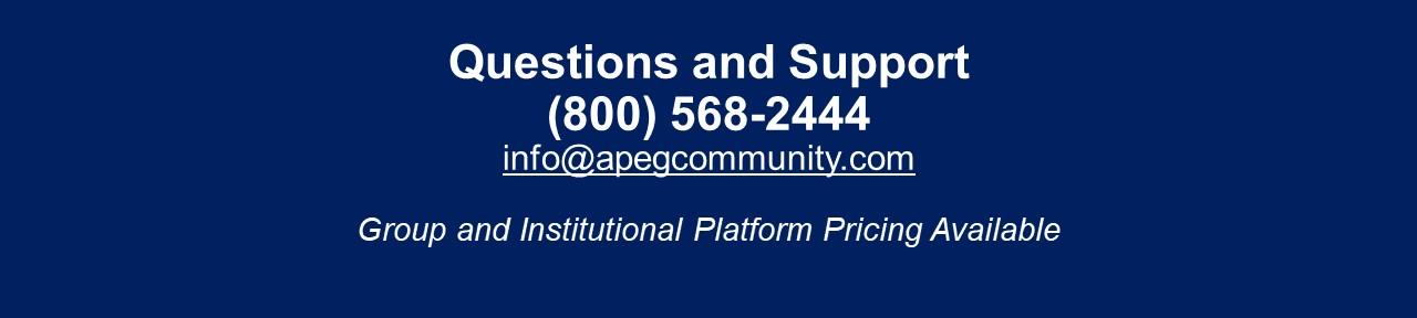 APEG Support