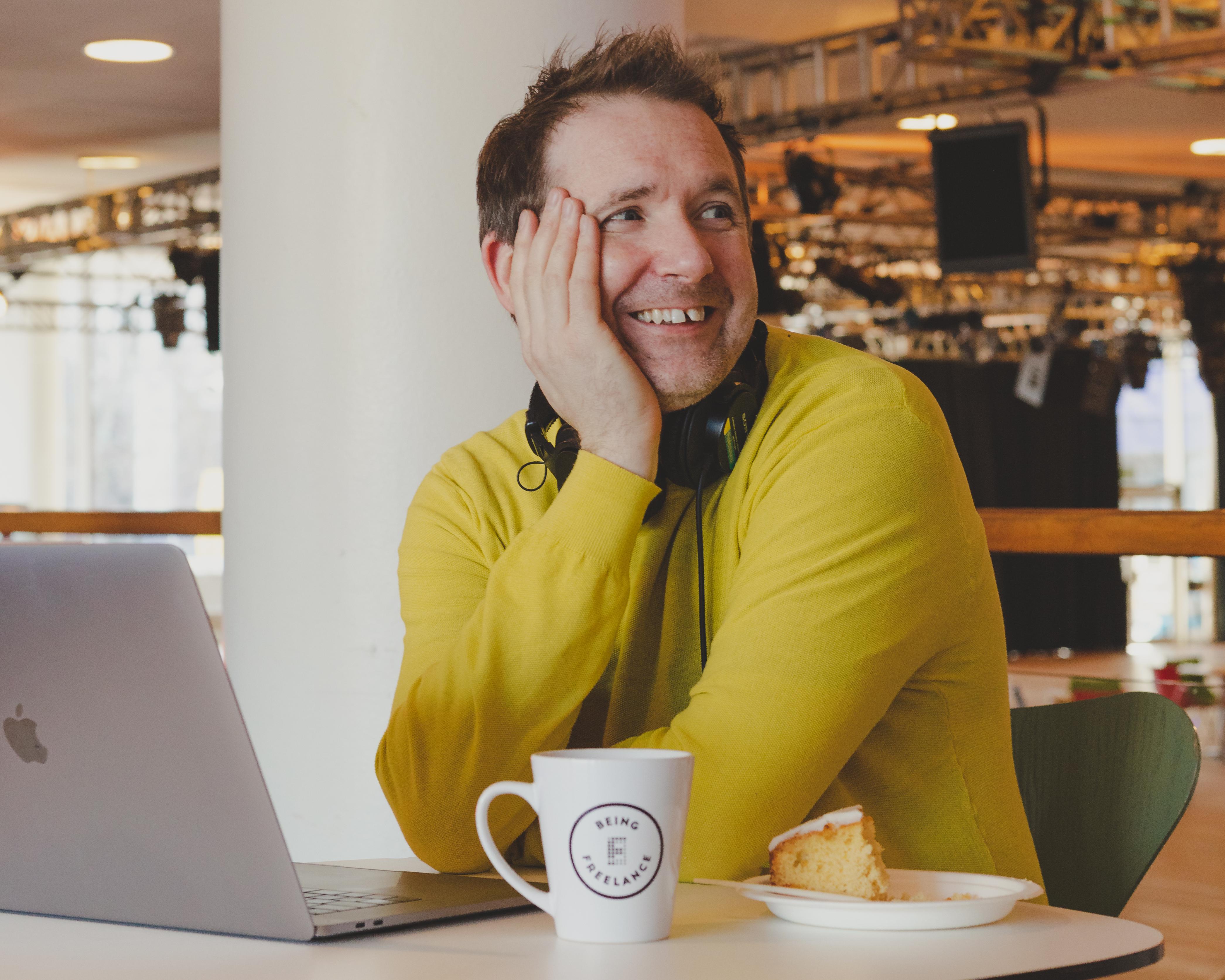 Being Freelance host Steve Folland smiling