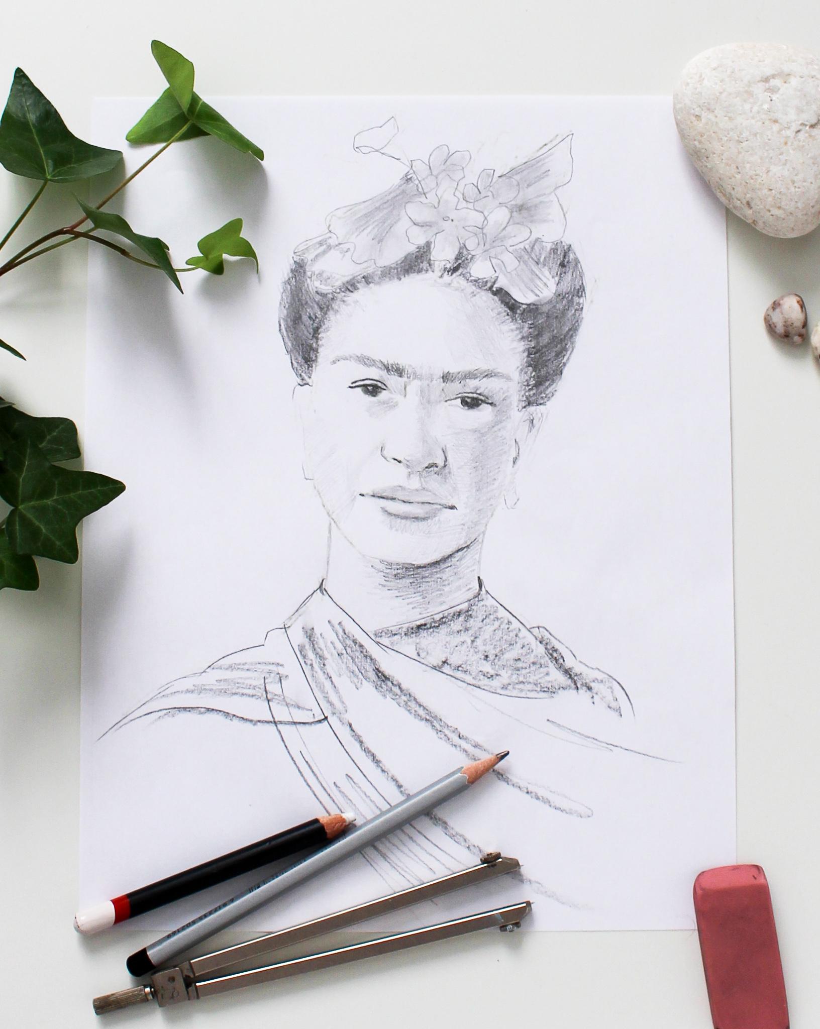 Sketch of Frida Kahlo