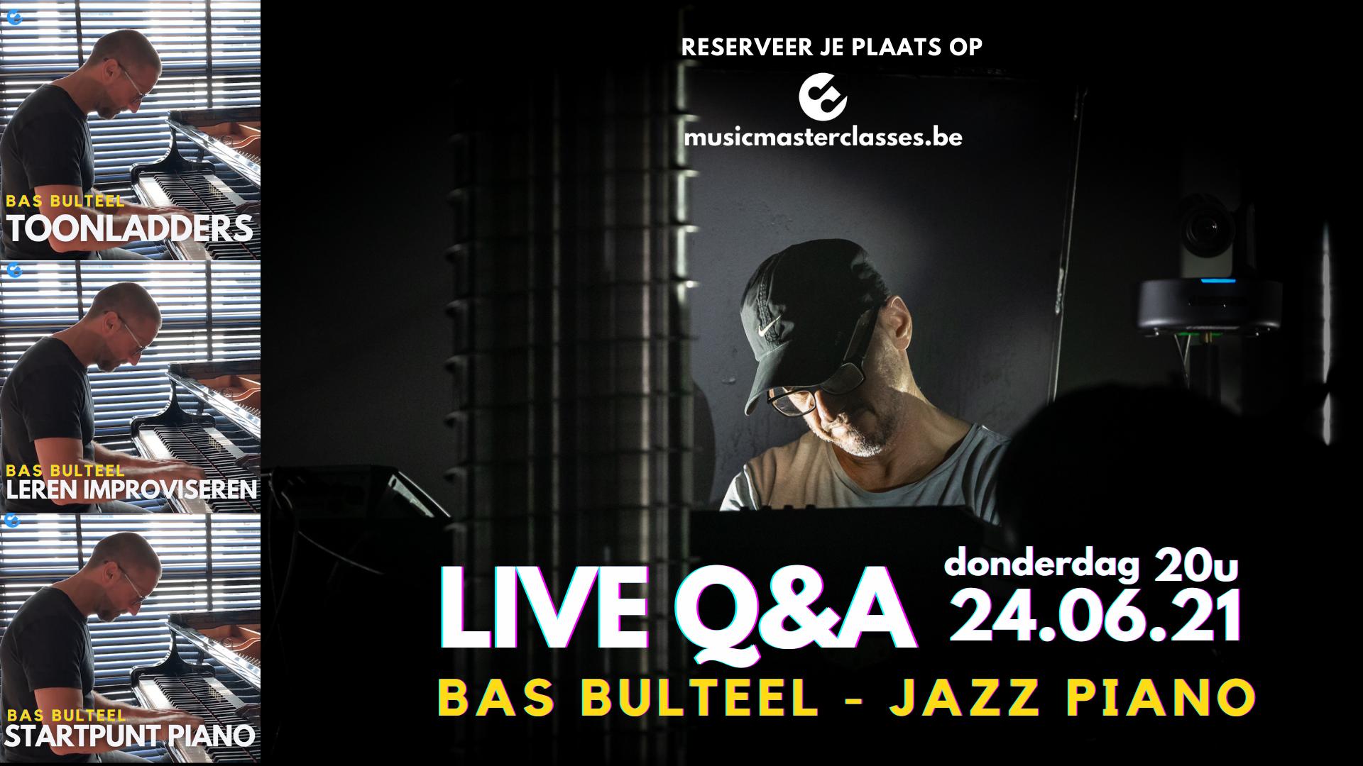 live q&a met bas bulteel