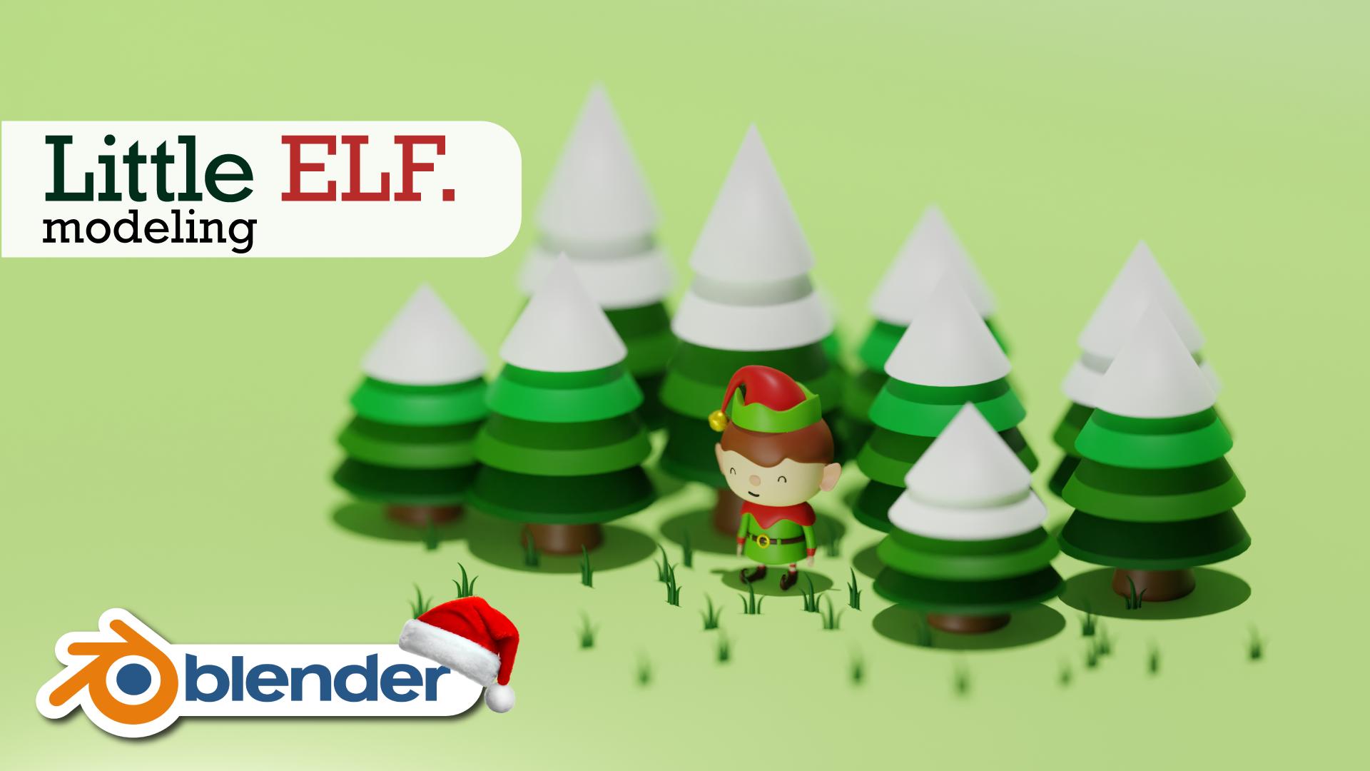 Little Elf Character 3D Model Blender Academy Course