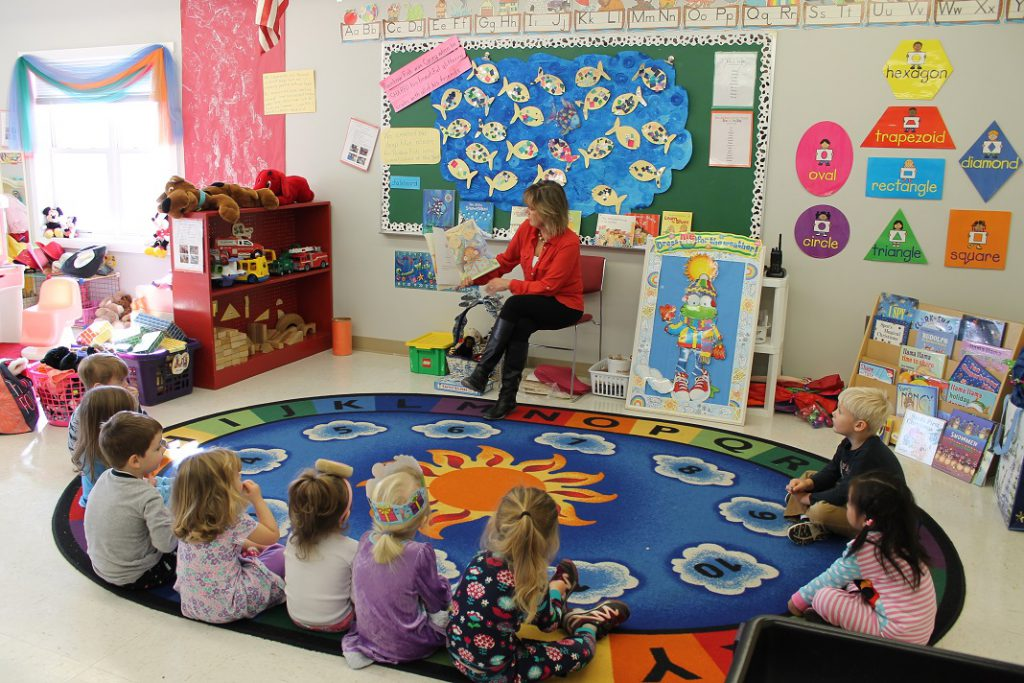 Center Stage Online Preschool Rug Time
