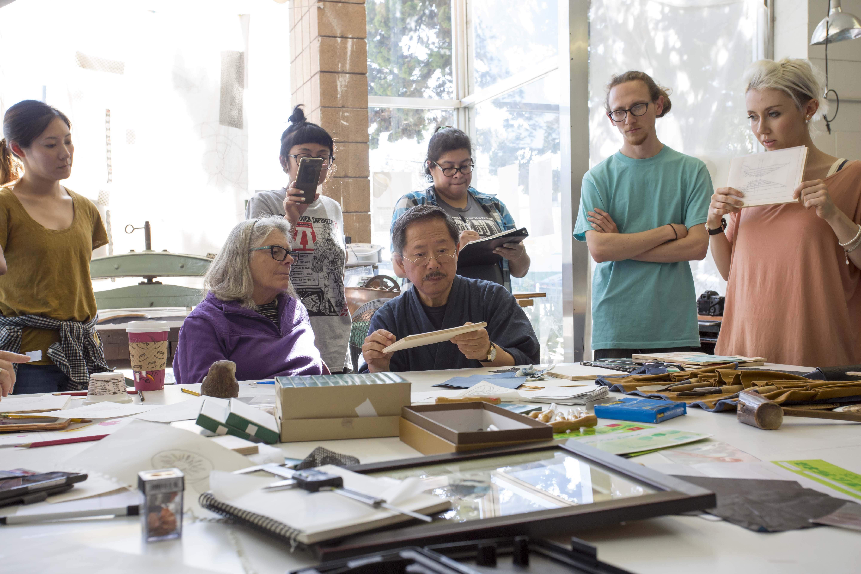 Japanese Master woodcut workshop