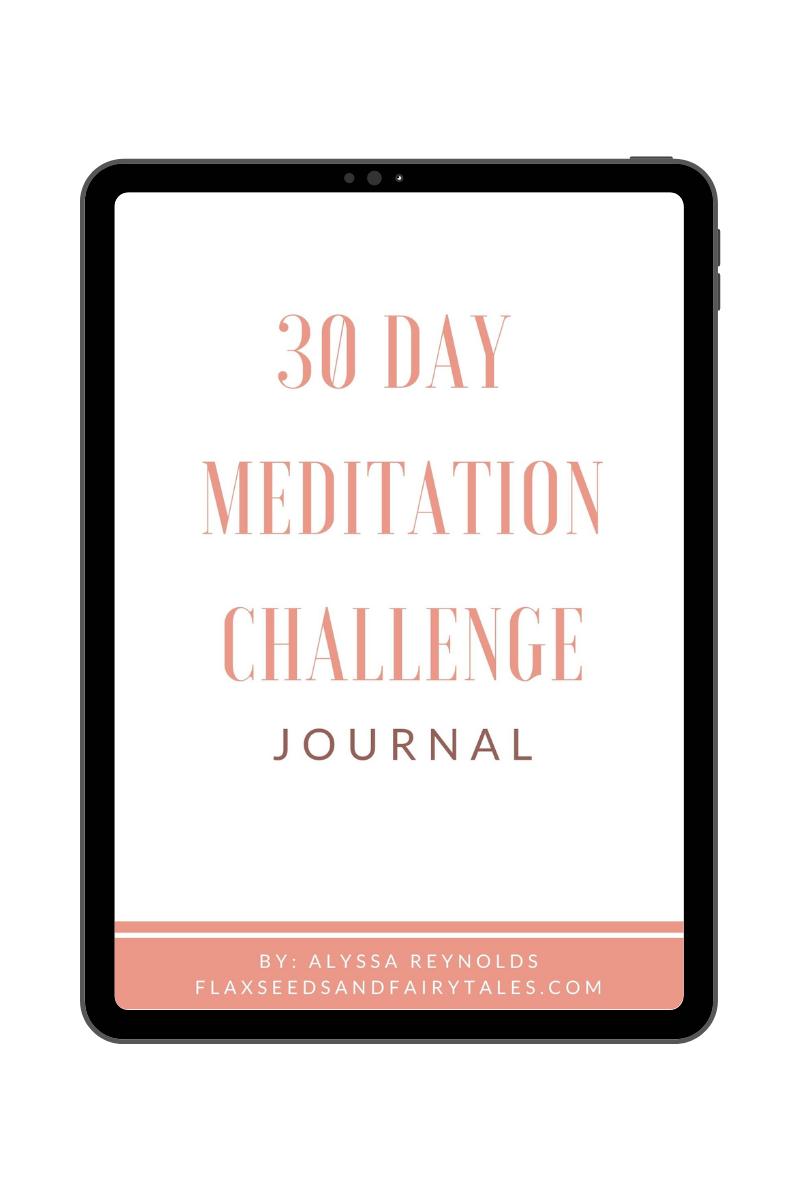 30 Day Meditation Journal