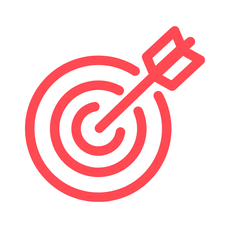 Target with arrow in the center