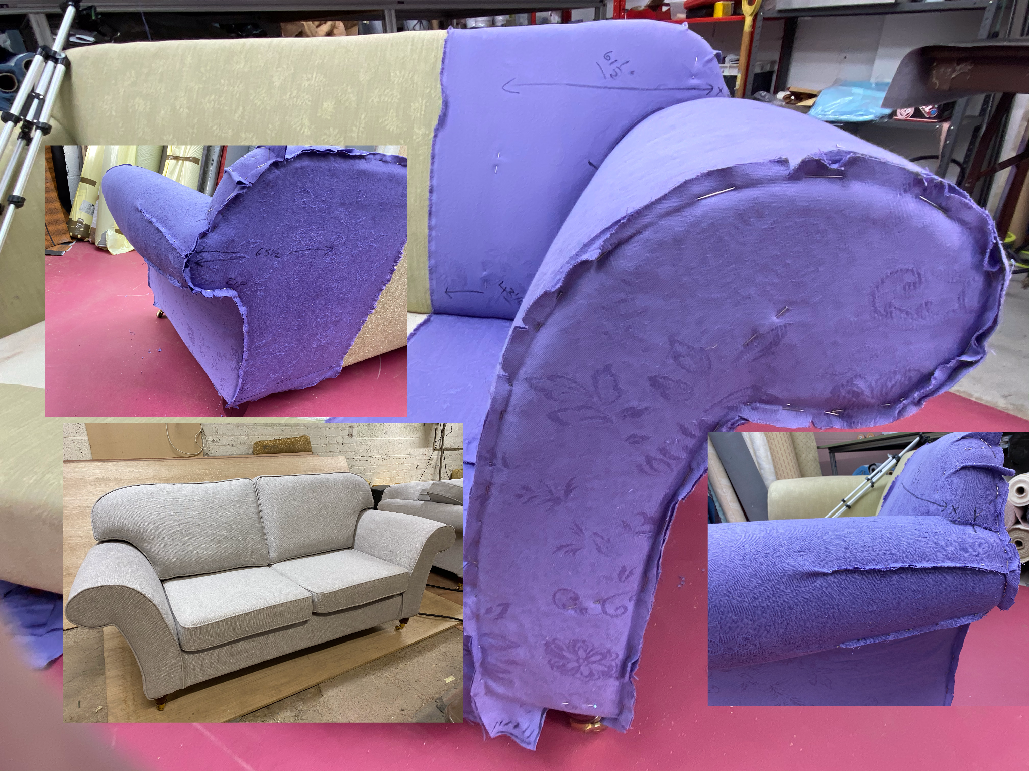 learn loose covers for a sofa online course