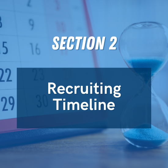 Section 2 - Recruiting Timeline
