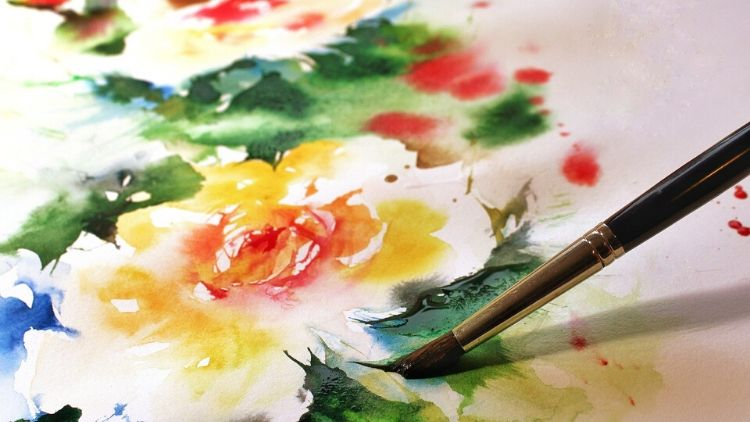 dipingere fiori ad acquerello