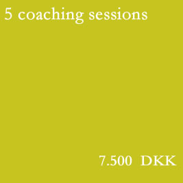 Five coaching sessions, free of choice