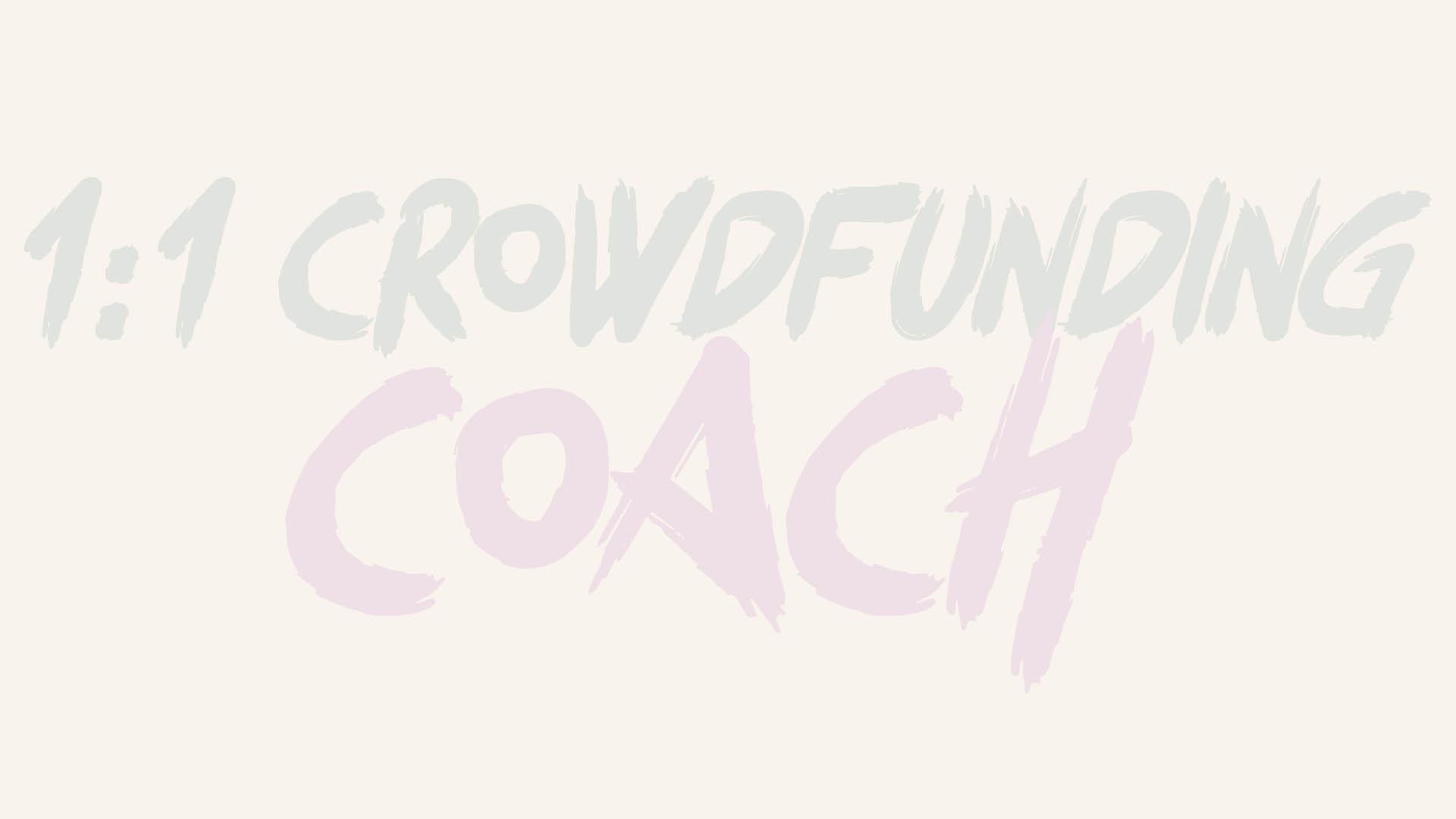 1:1 Crowdfunding Coach - Tommaso De Benetti