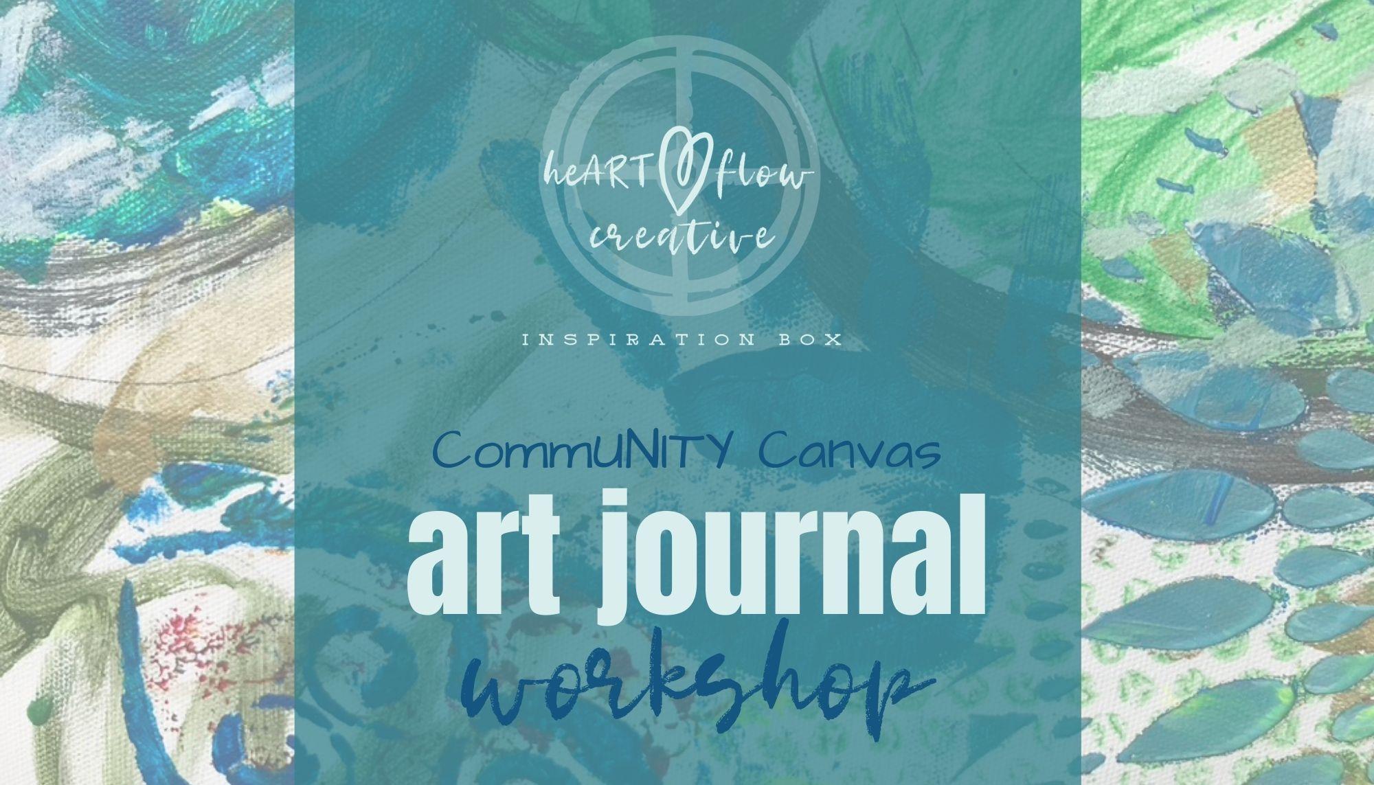 heARTflow Creative Inspiration Box:  CommUNITY Canvas Zen Journal