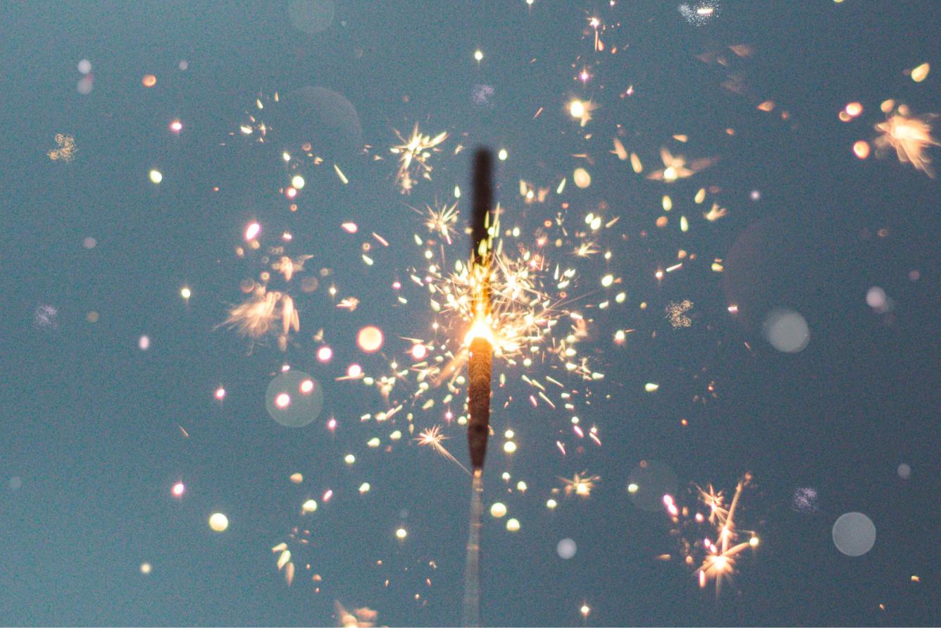 A firework sparkler