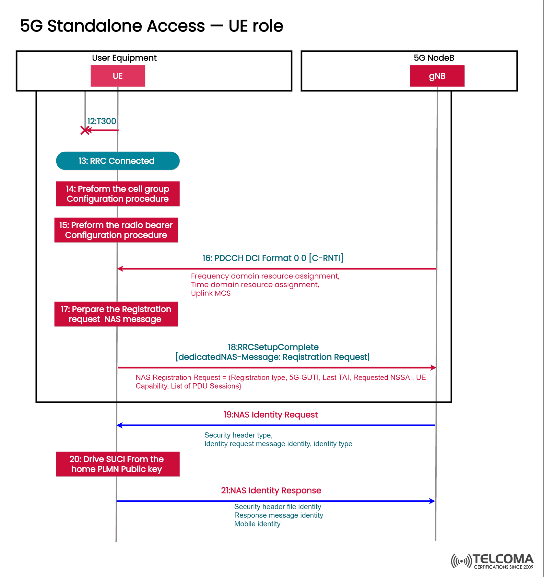 ue role in 5g standalone access
