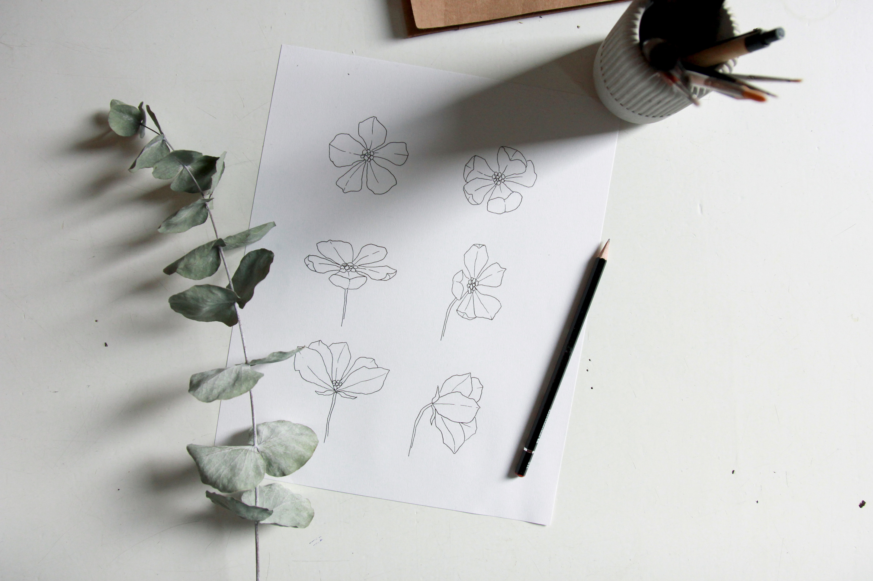 Draw flowers in perspective - Bloom Creatives art classes