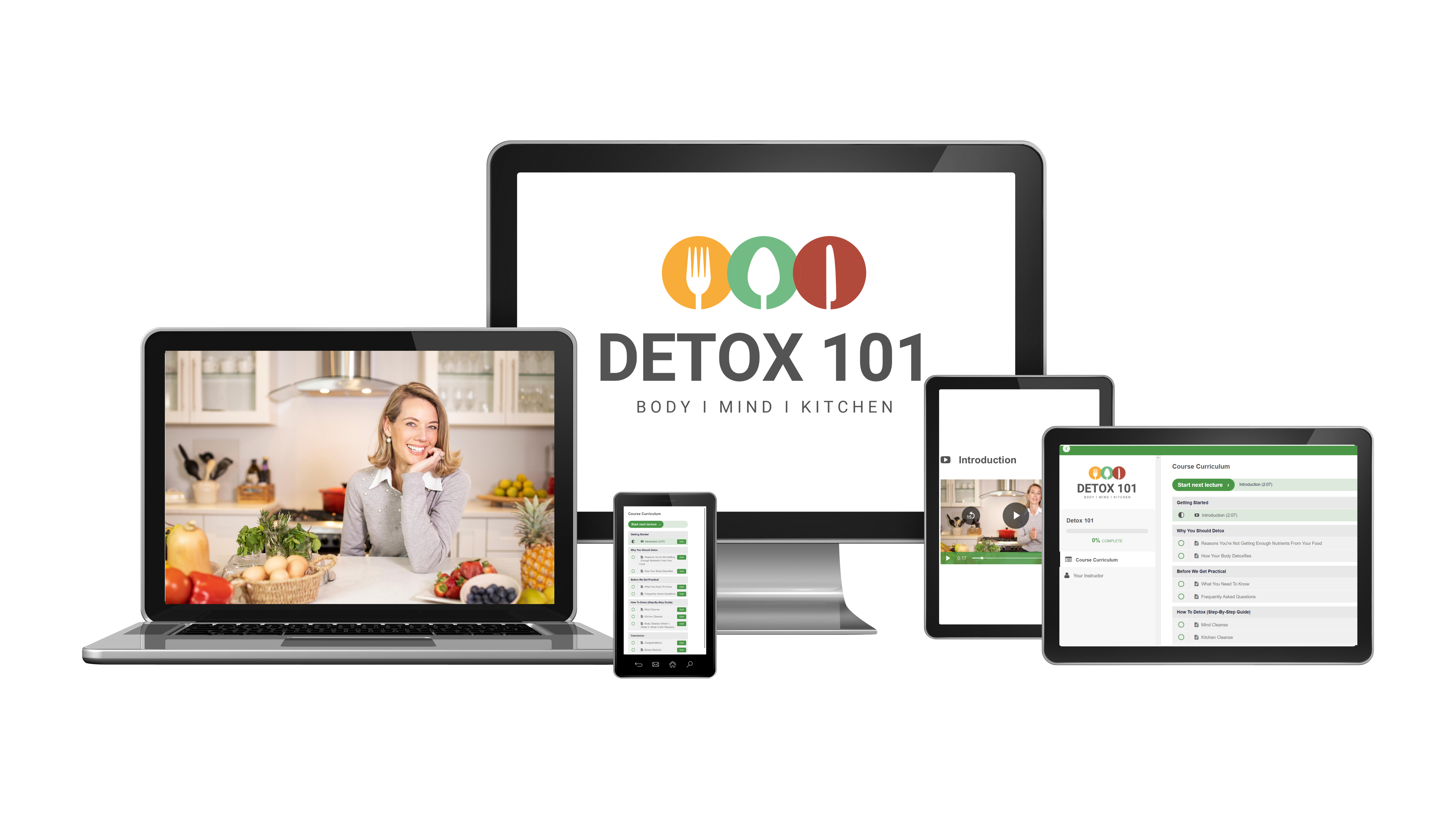 Detox 101 - The Ultimate Step-By-Step Detox Guide to a Complete Body, Mind and Kitchen Cleanse in 21 days. 🍍🥦🍅💭🔪