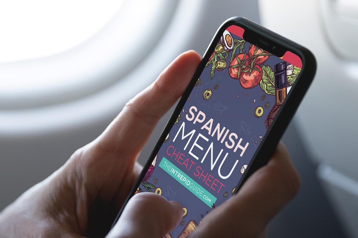 BONUS #1: Spanish Menu Cheat-Sheet ebook (Value: $47)