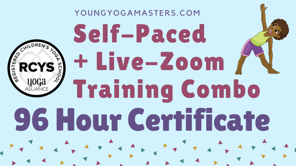 95 Hour childrens yoga teacher certificate bundle