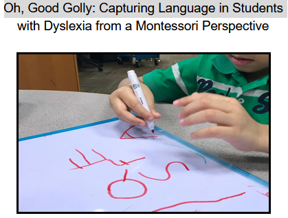 Oh, Good Golly: Capturing Language in Students   with Dyslexia from a Montessori Perspective (Cook, T., 2020)