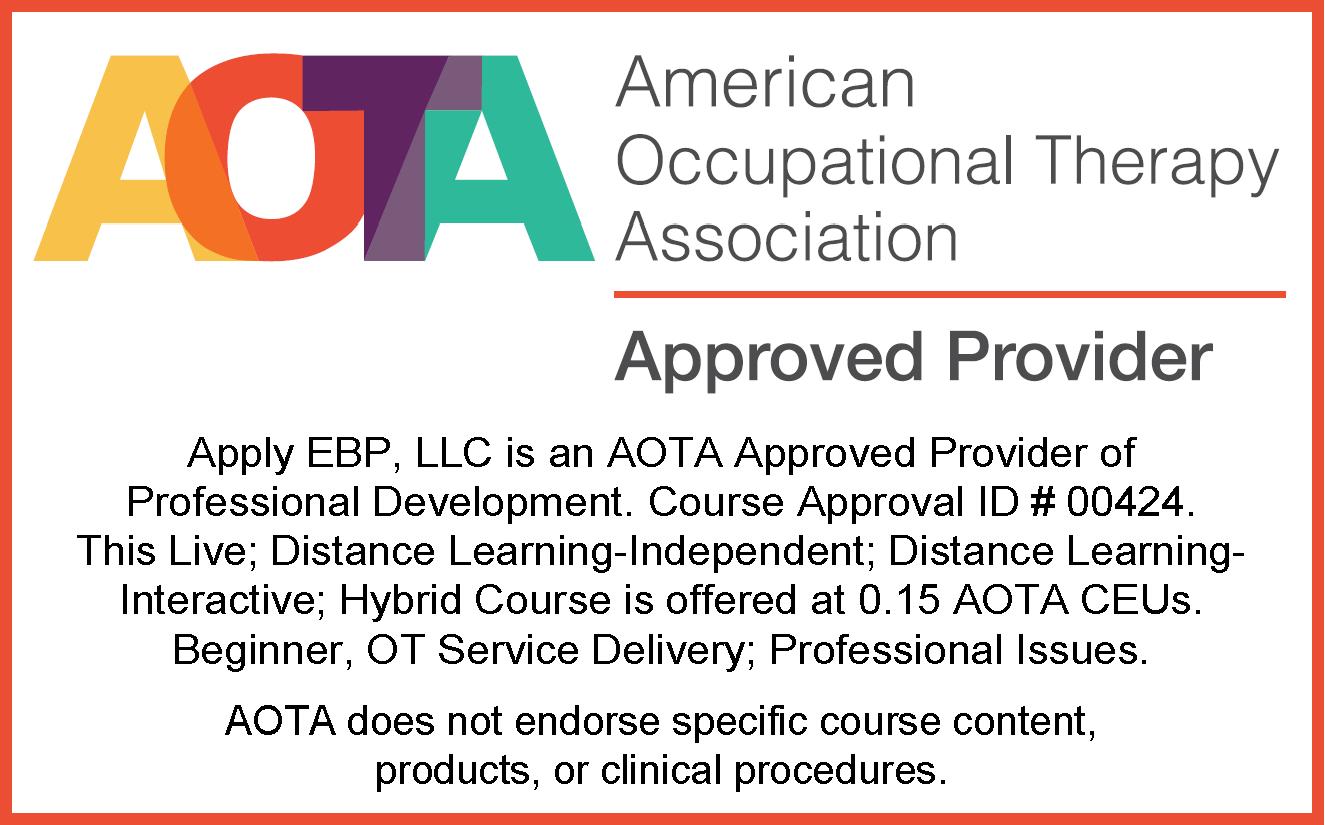 AOTA Approval 0.15 CEUs