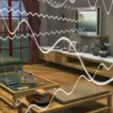 Radiation Waves Coming from TV
