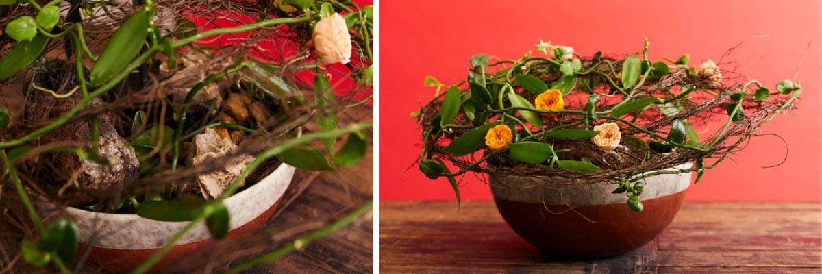 Beplantning med stativ blomsterkursus