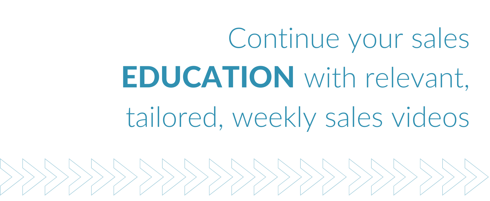 Continue your sales education with relevant, tailored, weekly sales videos