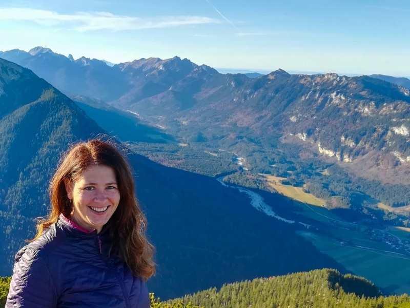 Laurel Robbins hiking in the German Alps