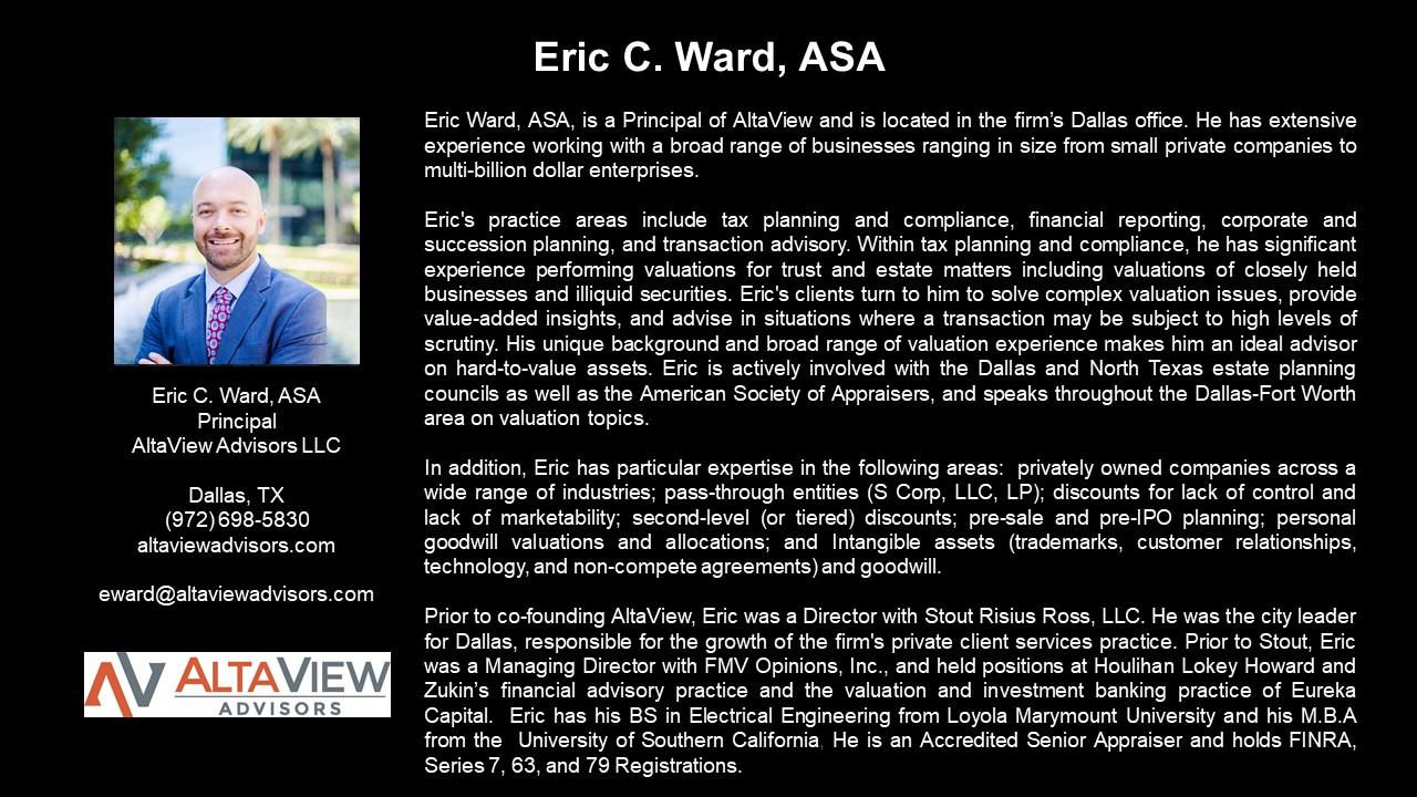 APEG Eric Ward